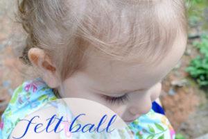 Felt Ball Ponytail Holders