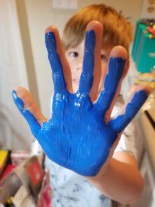 sensory-friendly blue hand stars
