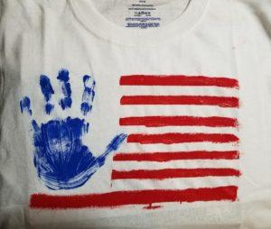 sensory friendly activity July 4th patriotic tshirt