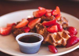 waffles fruit