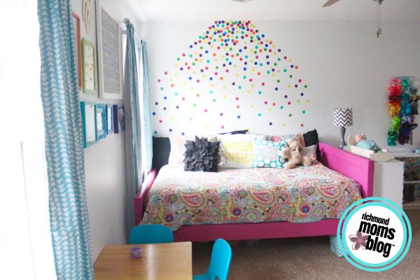 Rainbow Confetti Wall