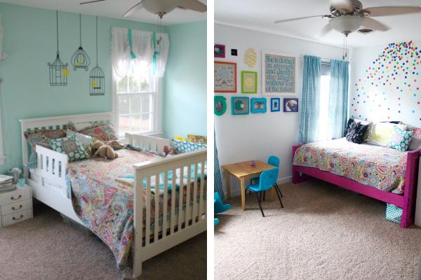 Kid's Rainbow Room Makeover